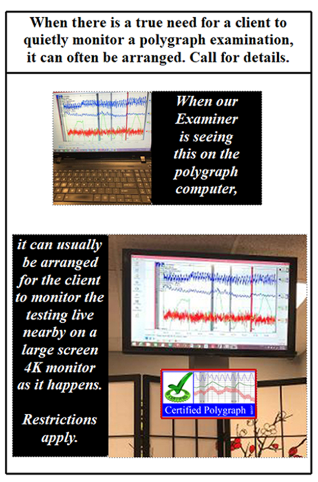 client monitors a Los Angeles polygraph